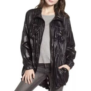 NWT BLANK NYC Jacket Liquid Black Lightweight Coat